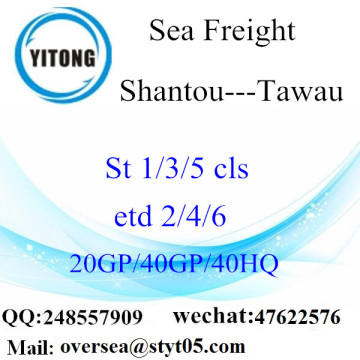 Shantou Port Sea Freight Shipping Para Tawau