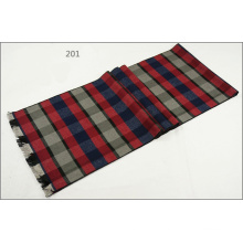 Men′s Womens Unisex Reversible Cashmere Like Winter Warm Checked Diamond Printing Thick Knitted Woven Scarf (SP809)