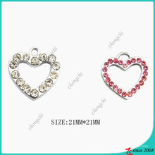 Crystals Hollow Heart Charm for DIY Jewelry Making (SPE)