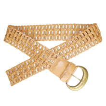 Hot Sales and High Quality Weave Leather Belt (KY1742)