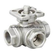 Нержавеющая сталь 316 3 способ шариковый клапан с CE