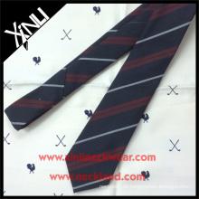 Marineblauer Twill Streifen Krawatte Seide Wolle Mixed Woven Herren Wolle Krawatten