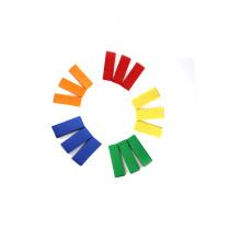 Confeti de papel de rectángulo colorido