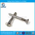 Fournisseur chinois DIN571 Demi-filetage Vis à bois en acier inoxydable