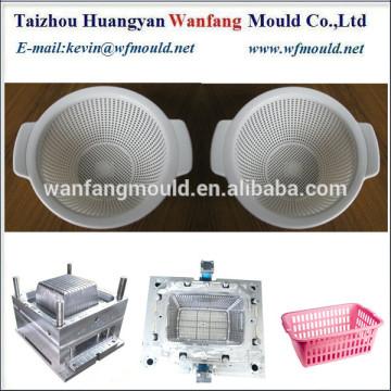 OEM plastic fruit basket mould/OEM fruit basket mould making/plastic picnic basket mold