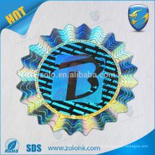 Professional manufacturer antif-fake custom silver circle 3d hologram sticker label
