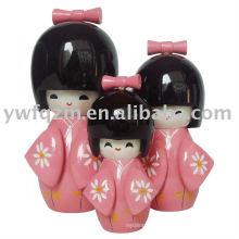 Boneca de Kokeshi boneca de amor japonesa