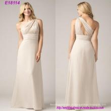De alta qualidade charmoso elegante vestido de dama de honra Atacado moda mais novo vestido de noite barato