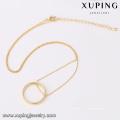 43772 dubai design poids léger en or collier définit la mode simple anneau pendentif plaqué or bijoux collier