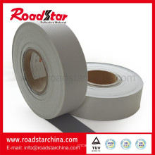 Ordinário refletivo PVC Microfibra couro com cor cinzenta para sapatos