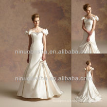 J-029 Satin Off-shoulder Wedding Dress 2017 Bowknots Bridal Dress Prom Gown