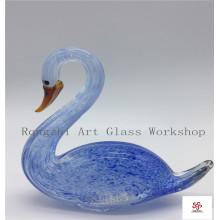 Mix Color Swan Glass Sculpture