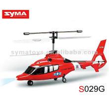 SYMA S029G Helicóptero RC Syma de 3 canais - Simulador Dauphin Guard