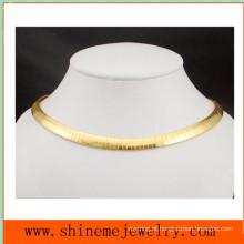 Moda Acessórios de aço inoxidável de alta qualidade Flat Plate Flat Snake Chain Necklace (SSNL2629)