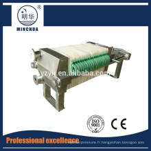 320 Presse à filtre d'eaux usées industrielles manuelle petite argile