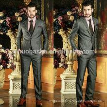 Привлекательный 2014 изысканный смокинг мужчины Свадебные костюмы одна кнопка из двух частей бизнес Мужские костюмы Сучжоу Мужской дизайн NB0578