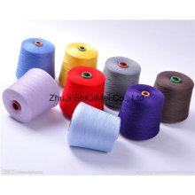 Factory Supply Ne16s/1 21s/ 30s/1 Ring Spun Polyester Spun Yarn for Knitting Socks