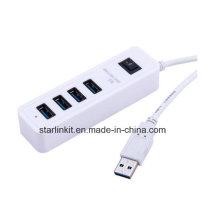 Hub USB Plug and Play Hot Swappable para Flash Drivers