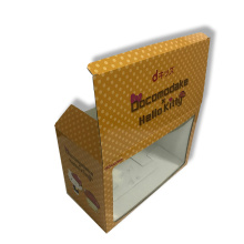 Printed corrugated box with PET/PVC window