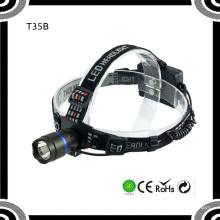 Poppas T35b 200lm de alta potencia Rojo / azul / verde / plata LED luz de cabeza móvil