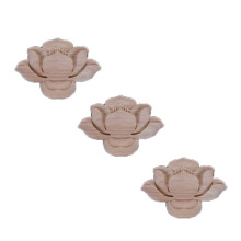 Custom-made wood carving furniture wooden flower Lotus shape model decals