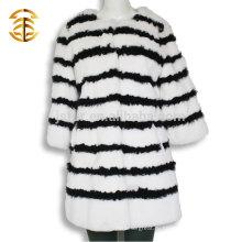 2017 Оптовые черные и белые шерсти кролика для женщин