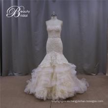 Vestido de novia de sirena Champagne de ensueño