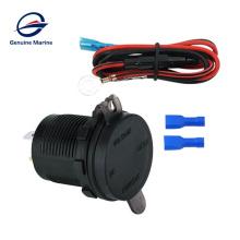 Genuine marine adaptor cord with 5v dc 24v pd usb boat sockets cargador one two voltmeter car rv socket