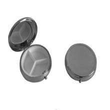 Petite boîte en forme de poudre en métal rond (BOX-01)