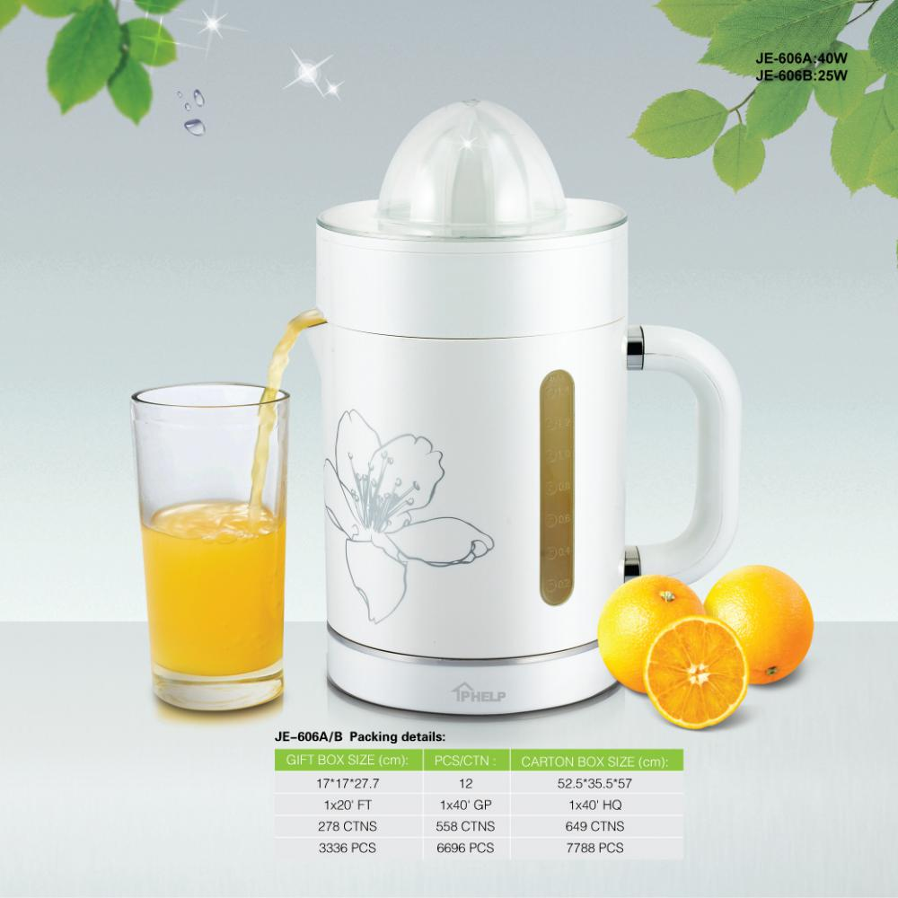 1.4 L Orange Citrus Juicer elektriska med juicepress Collector fack 25W/40W