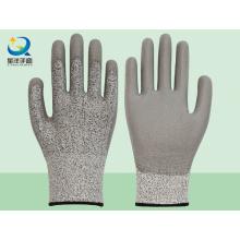 Защитная перчатка с защитой от порезов с покрытием PU Уровень 5