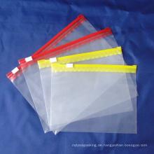 Plastik-Reißverschluss-Tasche