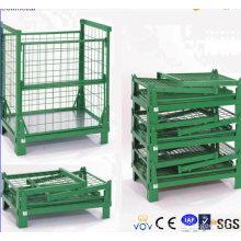 Warehouse Foldable Sheet Metal Wire Mesh Box