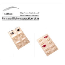 Tatuaje de maquillaje de caucho práctica ceja, practica la piel