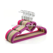 customized colored velvet flocked clothes hangers