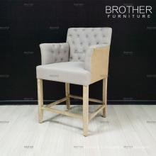 Tabouret de bar haut de gamme fournisseur tissu coussin en bois tabouret chaise