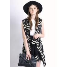 Lady Fashion merzerisierte Baumwolle gestrickte Schal Weste (YKY2038)