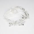 Fita de cristal feita à mão - acessórios para cabelo de noiva