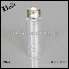 Vial de espacio libre claro de 20 ml, vial de espacio de cabeza transparente para HPLC, vial de espacio de cabeza transparente con tapa de metal