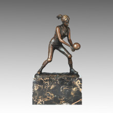 Sports Statue Volleyball Player Bronze Sculpture, Milo TPE-728