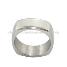 Großhandel Blank Ring für Männer Edelstahl Schmuck mit Gravur Logo