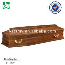 caixão de pinho barato simples com alça de metal