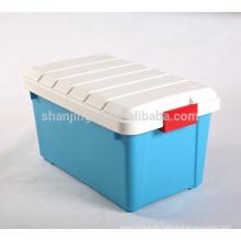barato 55 L respetuoso del medio ambiente, tipo PP plástico cajas de almacenamiento de plástico, contenedor de plástico multiusos.