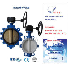 Durable in use pneumatic actuated flange butterfly valve dn50~2200mm