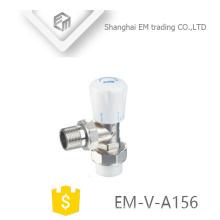 EM-V-A156 Válvula de control manual de latón del radiador Válvula de control de temperatura de latón vertical