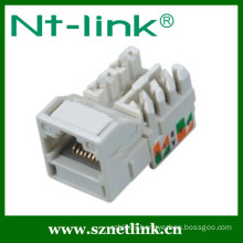 90 degree RJ45 Cat6 UTP Keystone Jack