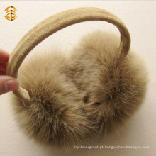 100% Real Fox Fur Inverno Warm Muff Fur Ear Muff Warm