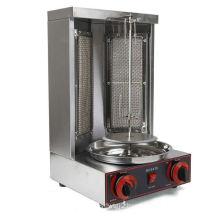 Stainless Steel Vertical Rotisserie Gas Shawarma Rotating Doner Kebab Machine