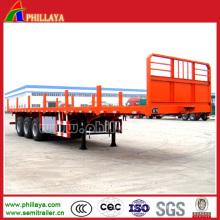 Tri-Achsen Plattform Container LKW Auflieger mit Einsätzen