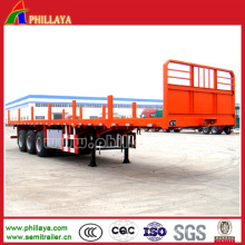 Tri оси платформы контейнер грузовик полуприцеп с ставками